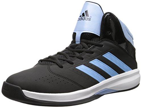 adidas Performance Men's Isolation 2 Basketball Shoe, Core Black/Metallic/Silver/White, 11.5 M US