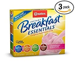 Carnation Breakfast Essentials Strawberry Sensations Complete Nutritional Drink 12.6 oz
