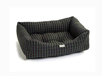 Chilli perro azul marino cuadros sofá cama para perro: Amazon.es: Productos para mascotas