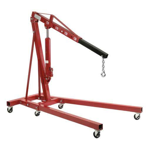 Folding Floor Crane with Telescopic Boom, 4000 Lb. Cap.