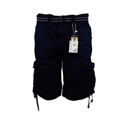 Focus Cargo - Men's Cargo Shorts with Belt Focus 32 34 36 38 40 42 44 Casual Short Navy (38, Navy)