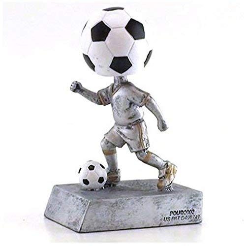 Decade Awards Soccer Bobblehead Trophy | Futbol Bobblehead Award | 5.5 Inch Tall - Free Engraved Plate on Request