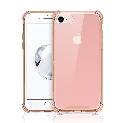 iPhone 8 Plus Cover Case,KAYA Crystal Clear Case [Shock Absorption] Cover PC+TPU Rubber Gel [Anti Scratch] Transparent Clear Back Case for Apple iPhone 8plus