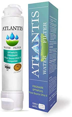 2 Pack French Door Models Atlantis Ultra II Water Filter Compatible with Puresource Ultra II