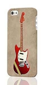 Fender Mustang Custom Diy Unique Image Durable 3D Case Iphone 5 5S Hard Case Cover