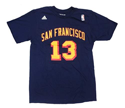(adidas Wilt Chamberlin San Francisco Warriors Navy Throwback Name and Number T-Shirt Medium)