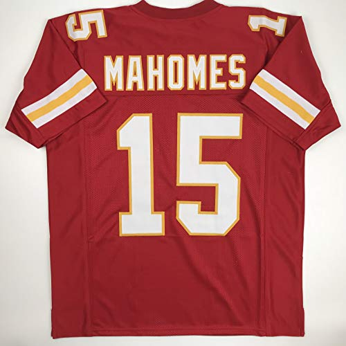 Kansas City Chiefs Jersey - Unsigned Patrick Mahomes Kansas City Red Custom Stitched Football Jersey Size Men's XL New No Brands/Logos