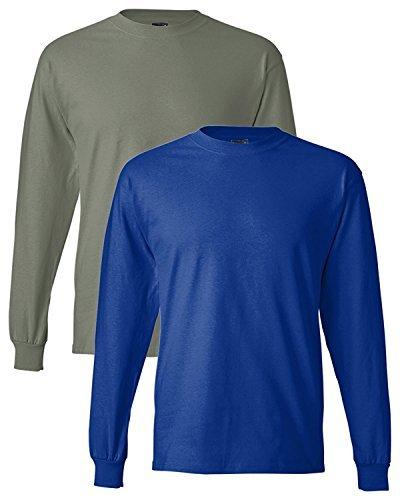 Hanes Baseball Jersey - Hanes Adult Beefy-T Long-Sleeve T-Shirt