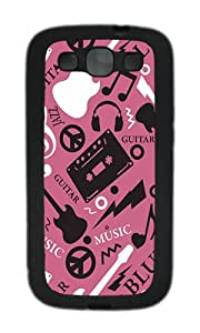 Samsung S3 Case,VUTTOO Cover With Photo: Music Of The Soul Pink For Samsung Galaxy S3 I9300 - TPU Black