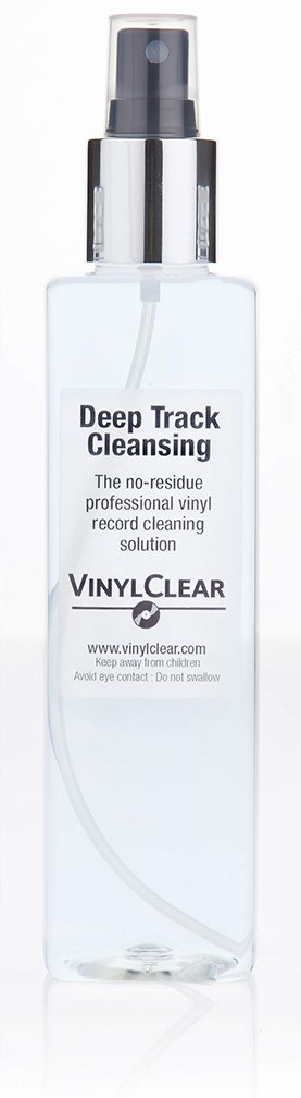 The Professional LP Record Solution : Antistatic Vinyl Record Restoration Cleaner Fluid. Large 250ml Bottle with Atomiser Spray Vinyl Clear VC-250R
