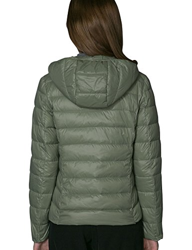 CHERRY CHICK 90% Down, Packable, Ultralight Women's Puffer Jacket with Hood (M, Pea Green-17) (Down Green Jacket)