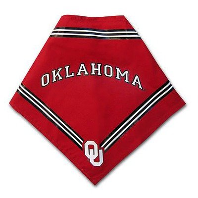 Collegiate Oklahoma Sooners Pet Bandana, Medium/Large - Dog Bandana must-have for Birthdays, Parties, Sports Games etc..