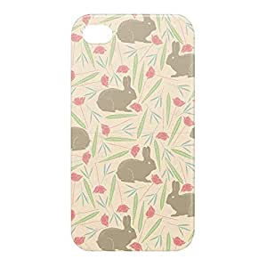 Loud Universe Apple iPhone 4/4s 3D Wrap Around Spring Rabbit Print Cover - Multi Color