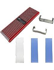 CTRICALVER M.2 koellichaam, M.2 koeler, aluminium behuizing, siliconen rubber bevestiging, voor M.2 SSD (2280) (rood)