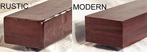 Rustic or Modern Walnut Fireplace Mantel Mantle Floating Shelf Made to Size