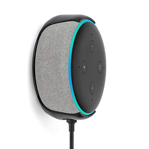 Echo Dot (3rd Gen) Hole-Free Wall Mount, Holder Stand for Amazon Echo Dot 3rd Generation Accessories ()