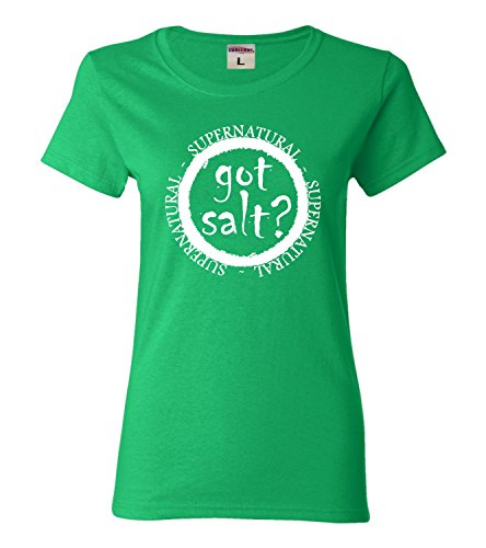XX-Large Kelly Green Womens Got Salt? Supernatural T-Shirt