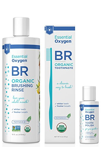 Essential Oxygen Pristine Protocol 3-Step System for a Healthy and Radiant Smile, 3 Count - Healthy Teeth Rinse