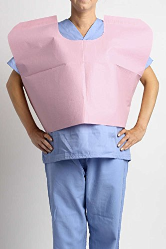 MediChoice Exam Capes, Disposable, Tissue/Poly/Tissue, 30 Inch x 21 Inch, Mauve (Case of 100) by MediChoice