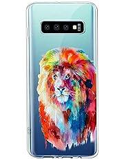 Oihxse Compatible con Samsung Galaxy A6 2018 Funda Suave Gel TPU Silicona Cristal Transparente Carcasa Acuarela Animal Pintado Patrón Protectora Estuche Bumper Caso Case (B3)