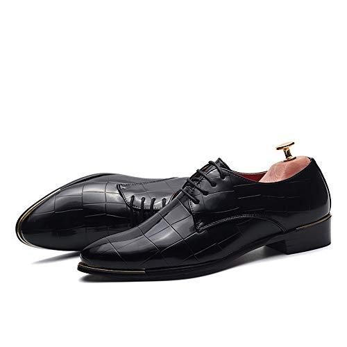 in EU Nero Blu traspirante pizzo un nuziale e Pelle Jiuyue da da uomo in Uomo per Scarpe abito cerimonia confortevole scarpe Nuove shoes Color pelle Dimensione verniciata 43 2018 SwSnqf7p