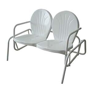 Amazon.com: Offex de metal acabado en polvo asiento doble ...