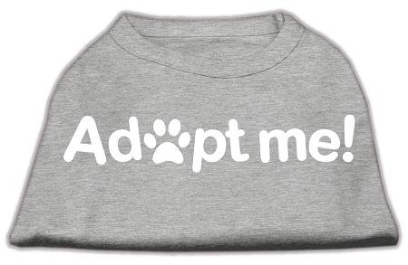 Mirage Pet Products Adopt Me Screen Print Shirt, X-Small, Grey