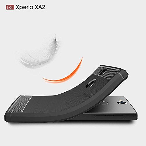 Sony Xperia XA2 Funda,cubierta ultra delgada de la carcasa [Durable] [a prueba de golpes] Protección Máxima contra golpes para Sony Xperia XA2(Gris) Negro