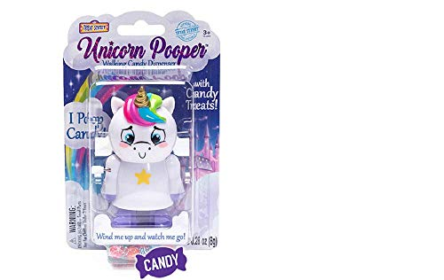 Unicorn Pooper Walking Candy Dispenser by Treat Street - Collectible Wind Up Unicorn Toy with Candy ()