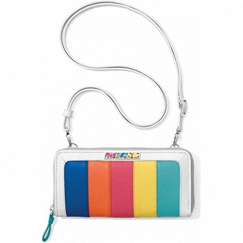 Brighton Suncatcher Color Block Leather Wallet Organizer Crossbody ()