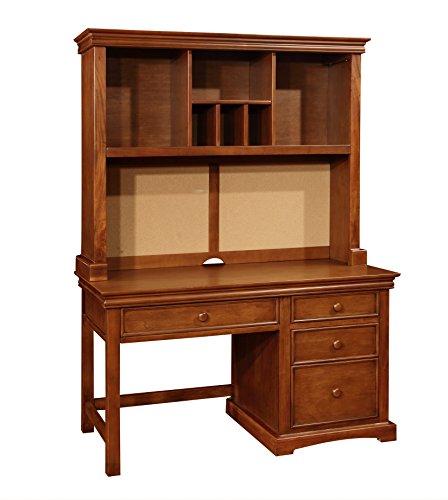 Bolton Furniture 865055700 Cambridge Pedestal Desk with Hutch Set, Chestnut