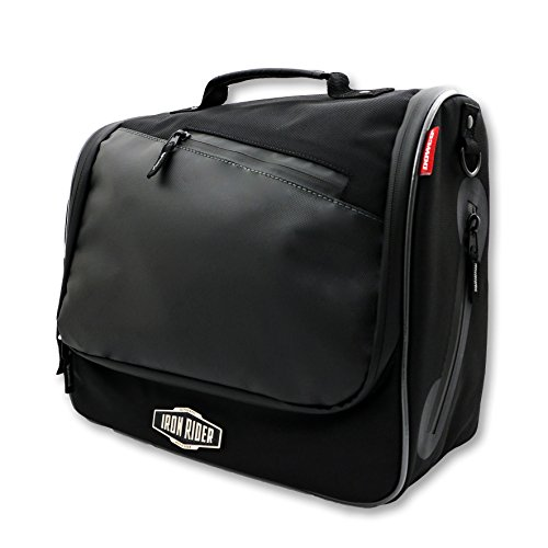 Dowco Iron Rider 05150 Water Resistant Reflective Urban Commuter Mountable Messenger Bag: Black, 16 Liter Capacity