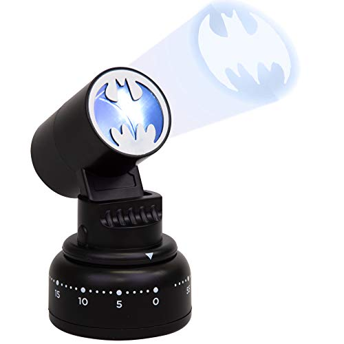 DC Batman Kitchen Timer - Bat Signal Lights Up When Done - Cook Like a Super Hero