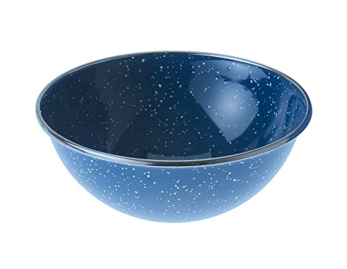 Gsi Mixing Bowl - GSI Outdoors 32014 Mixing Bowl Stainless Rim 5.75 inch, Blue