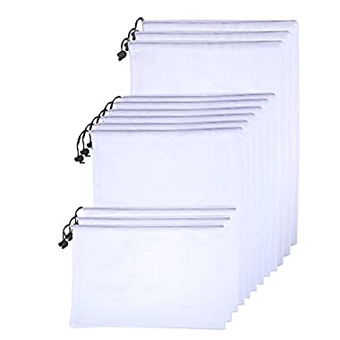eBoot Multiple Sizes Produce Bags Mesh Storage Bags, Set of 12