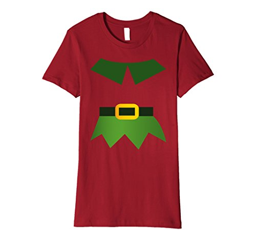 Female Elf Costume Ideas (Womens Christmas Costume Elf Funny Idea Shirt Gift Small Cranberry)