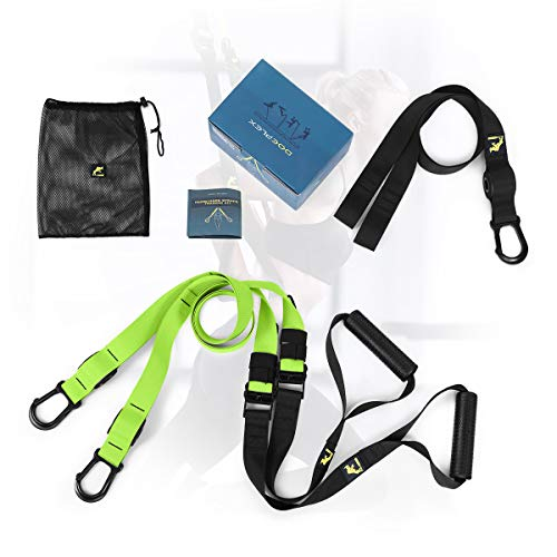Doeplex Full Body Training System Fitness Workout Equipment for Home Gym, Resistance Training Kit with Extension Strap Green