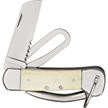 Sarge Knives SK-34 Sailor Knife with 2-3/4-Inch Stainless Blade and White Bone Handle