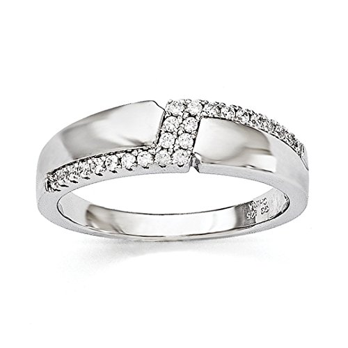 925 Sterling Silver Cubic Zirconia Cz Mens Band Ring Size 10.00 Wedding Fancy Man Fine Jewelry Dad Mens Gift Set -