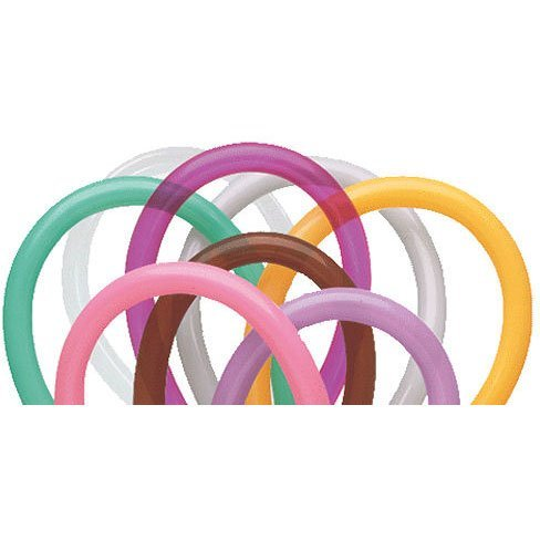 Qualatex 260 Entertainer Balloons (250 Ct) - Mocha Brown, Wintergreen, Tropical Teal, Goldenrod, Rose, Spring Lilac, Gray, Jewel Magenta and Diamond ()