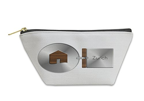 Gear New Accessory Zipper Pouch, Gadgets House In Steel And Wood With Label Zurich, Large, 5970979GN
