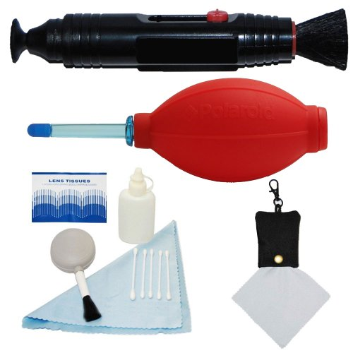 Optic Kit Cleaning Lens (PLR Optics Professional Cleaning Kit - Includes: Lens Cleaning Pen System + Deluxe 5 Piece Cleaning Kit + Air Blower Cleaner + Premium Microfiber Cleaning Cloth For The Nikon D5300, D5000, D3000, D3200, D5100, D5200, D3100, D7000, D7100, D4, D800, D800E, D600, D610, D40, D40x, D50, D60, D70, D80, D90, D100, D200, D300, D3, D3S, D700, Digital SLR Cameras)