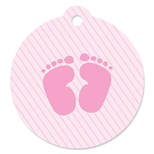 Baby Feet Pink - Baby Shower Party Favor Gift Tags (Set of 20)