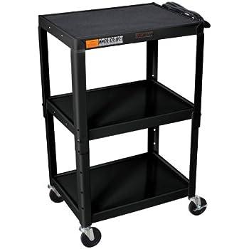 Amazon h wilson w42ae adjustable height av cart black h wilson w42ae adjustable height av cart black sciox Gallery