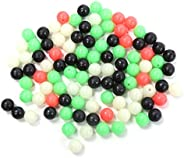 400pcs Luminous Fishing Beads Round Shaped Fishing Beads Fishing Tackle Eggs for Rig