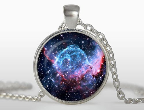 Thor's Helmet Nebula Pendant, Galaxy Necklace, Silver for sale  Delivered anywhere in Canada