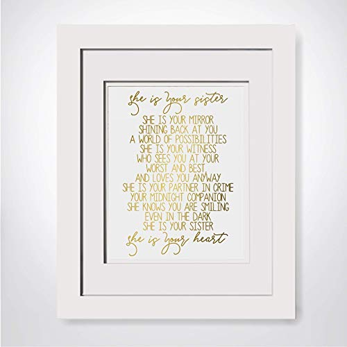 She Is Your Sister She Is Your Mirror Sisters Quote Print Sister Poem Soul Sister Gift Big Sister Gift Sentimental Gift For Sister