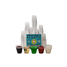 500 Shot Glasses Premium 2oz Clear Plastic Disposable Cups, Perfect Container for Jello Shots, Condiments, Tasting…