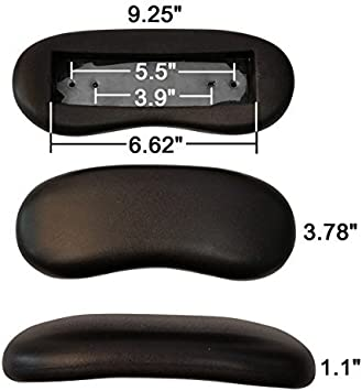Amazon Com Replacement Office Chair Armrest Arm Pads Kidney Shaped Set Of 2 Furniture Decor