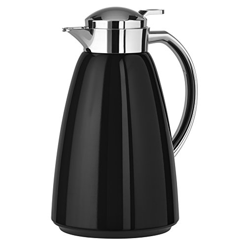 Emsa Campo Stainless Steel Thermal Carafe with Glass Liner, 34 oz, Black